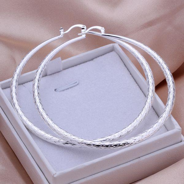 Sterling Silver Large Hooped Earring