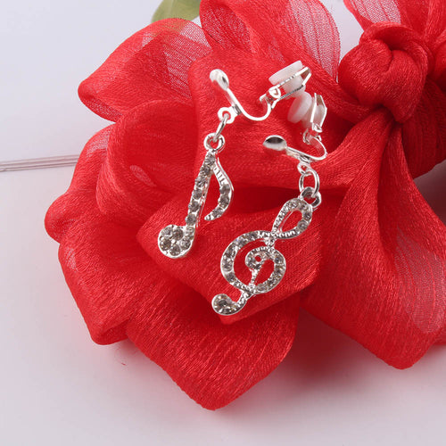 Musical Symbol Clip On Earrings