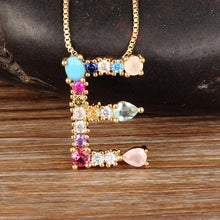 Load image into Gallery viewer, Multicoloured Initialed Necklace