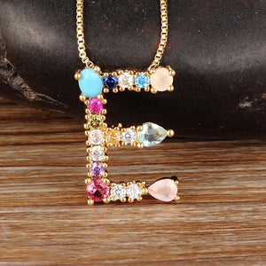 Multicoloured Initialed Necklace