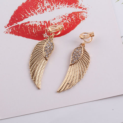 Angel Wing Clip On Earrings