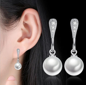 Freshwater Pearl 925 Silver Earrings