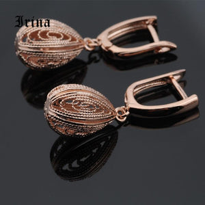 Unique Fine Wedding Rose Gold Earrings