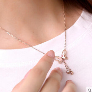 3D Butterfly Necklace