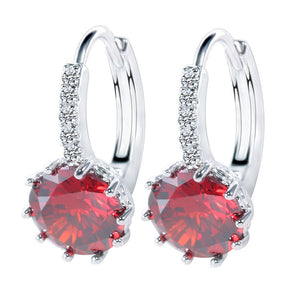 925 Sterling Silver Luxury Crystal Earrings