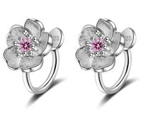 Load image into Gallery viewer, 925 Flower Clip On Earrings