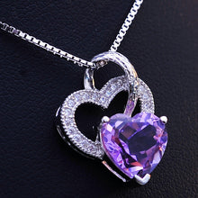 Load image into Gallery viewer, Double Heart 925 Necklaces