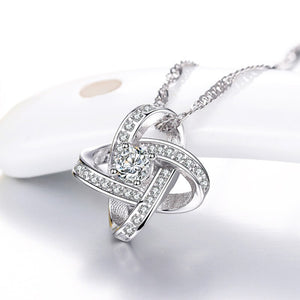 Rhinestone 925 Sterling Silver Necklace