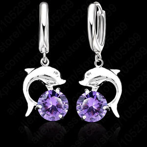 925 Dolphin Drop Earrings