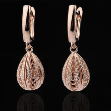 Load image into Gallery viewer, Unique Fine Wedding Rose Gold Earrings