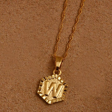 Load image into Gallery viewer, A to Z Hexagon Necklace