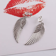Load image into Gallery viewer, Angel Wing Clip On Earrings