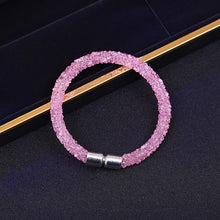 Load image into Gallery viewer, Crystal Mesh Magnetic Clasp Bracelet