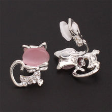 Load image into Gallery viewer, Simple Stylish Cat Clip On Earrings