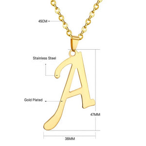 Solid Letter Necklace