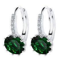 Load image into Gallery viewer, 925 Sterling Silver Luxury Crystal Earrings