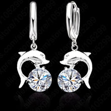 Load image into Gallery viewer, 925 Dolphin Drop Earrings