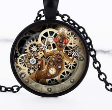 Load image into Gallery viewer, Steampunk Gecko Necklace