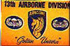 13th Airborne Division with AB & Glider Wings