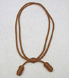 Adjustable NCO & EM Cavalry Hat Cord Rayon Brown