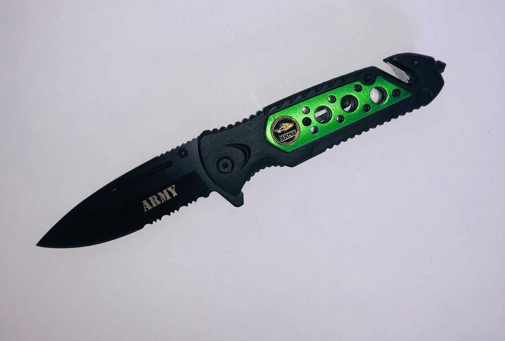 Pocket Knife Army Handle and Blade