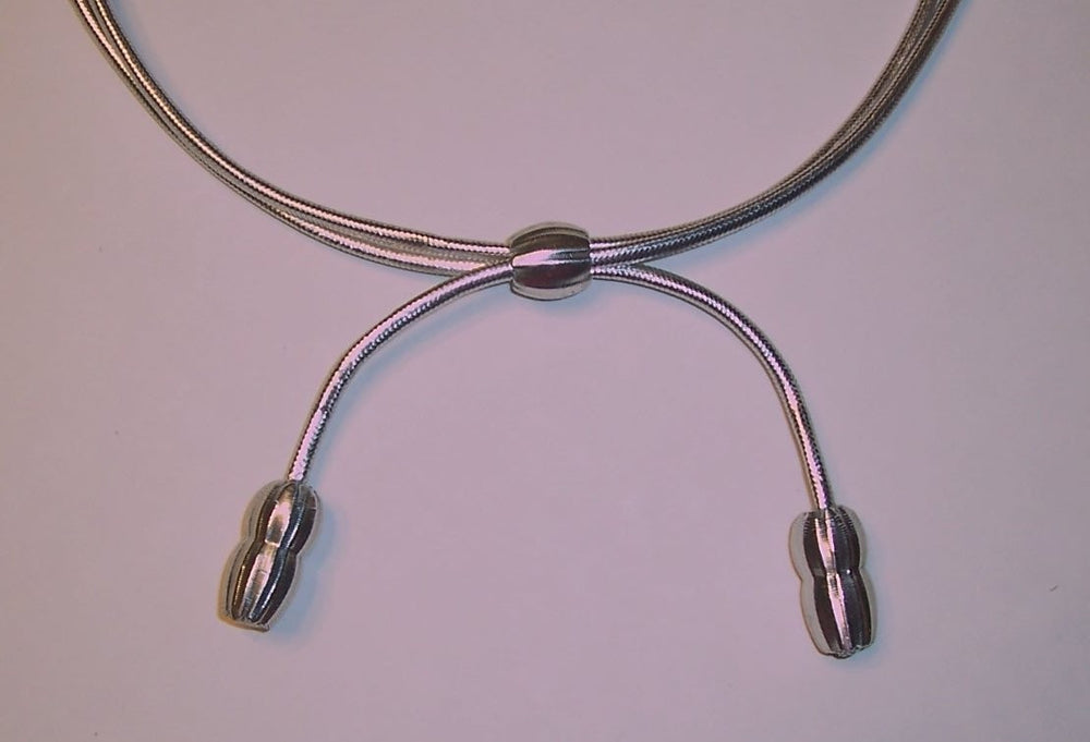 Adjustable Warrant Officers Silver W-4 & W-5 Hat Cord