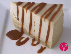 Cheesecake with Caramel Sauce - Vegan