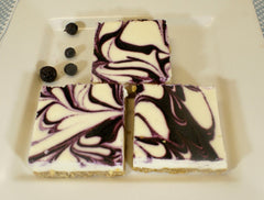 Blueberry Swirl Cheesecake Squares