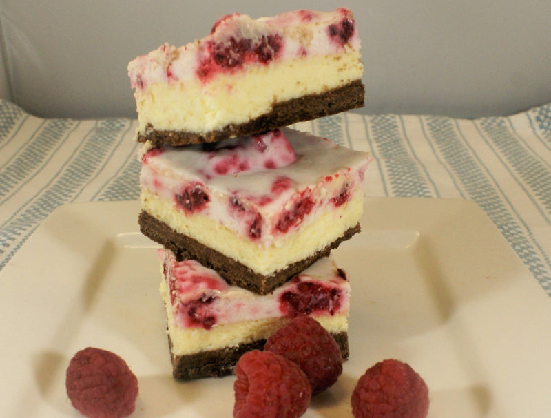 Brownie Raspberry Cheesecake Squares