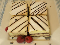 Vanilla Chocolate Raspberry Opera Cake