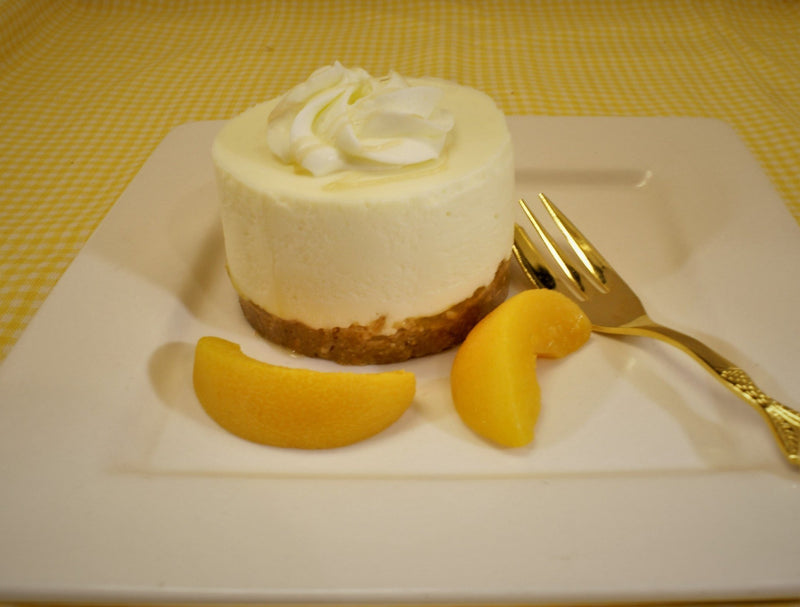 Peaches & Cream Cheesecake