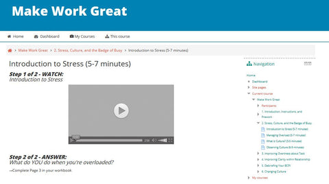 Make Work Great: Online Learning