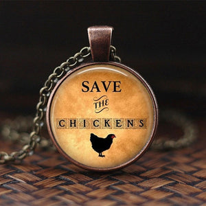 Save the Chickens Necklace