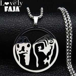 Animal Liberation Stainless Steel Necklace
