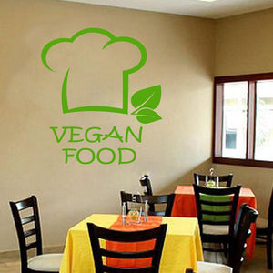 Vegan Food Wall Decal - Multiple Colors - 74x82 cm
