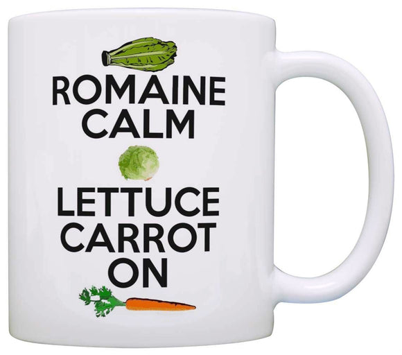Romaine Calm Lettuce Carrot On Keep Calm Mug Variation 3