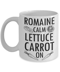 Romaine Calm Lettuce Carrot On Keep Calm Mug Variation 1