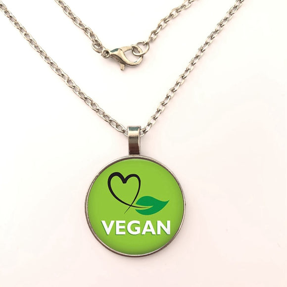 Green Leaf Vegan Necklace Variation 1