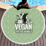 Vegan For The Animals cow  Bath Towel