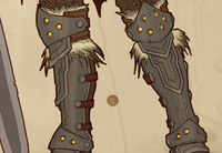 Cos of the Ancients Barbarian ZF Design Knee Armor (L50 Variation)