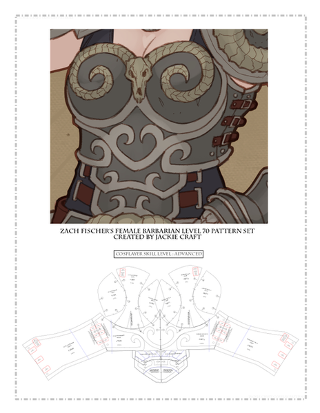 Cos of the Ancients Female Barbarian ZF Design Breastplate (L70 Variation)