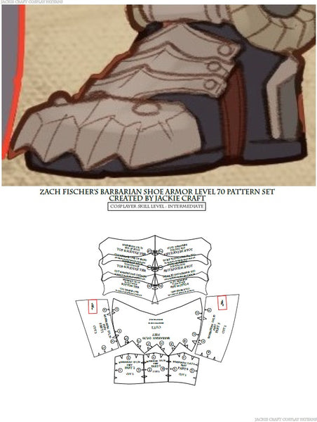 Cos of the Ancients Barbarian ZF Design Foot Armor (L70 Variation)