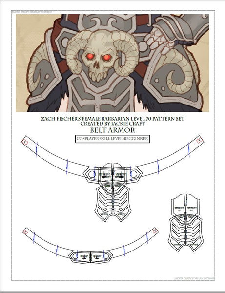 Cos of the Ancients Barbarian ZF Design Belt Armor (L70 Variation)