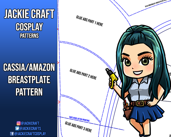 HotS Cassia/Amazon Inspired Breastplate Pattern