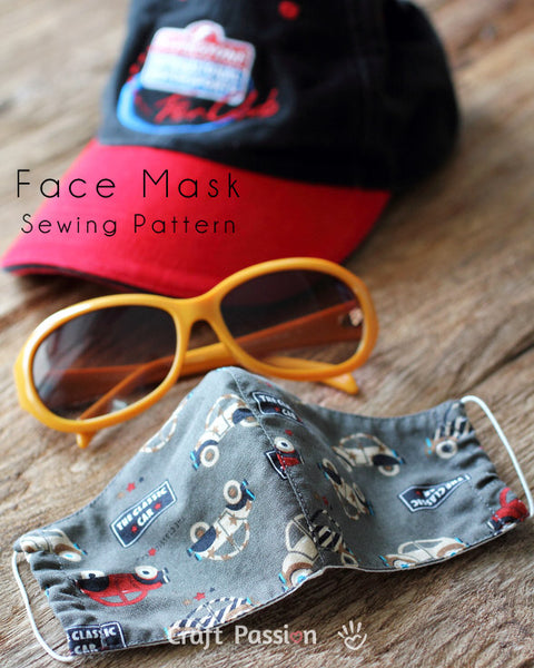 *Free* Face Mask Sewing Pattern by CraftPassion