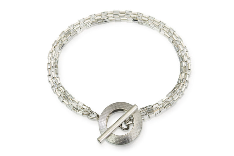 Pareure 360º Series Sterling Silver Multi-strand Toggle Bracelet
