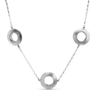 Trio Collar: Large Fibril™ Textured Hollowform Necklace