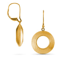 Pareure 360º Series 18k Yellow Gold Vermeil Small Hoop Earrings - front and side views