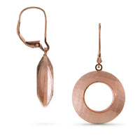 Pareure 360º Series 18k Rose Gold Vermeil Small Hoop Earrings - front and side views