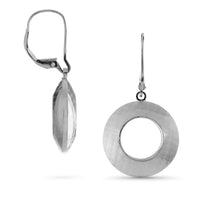 Pareure Élancer Earrings: Fibril™ Textured Adjustable Small Hoop Earrings - front and side view